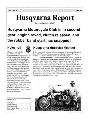 husky club quarterly newsletters on cd view images